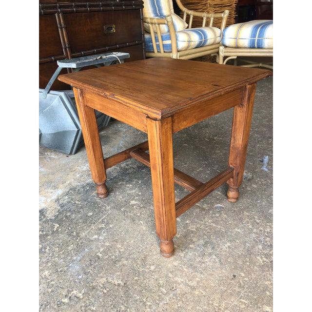 Asian Vintage Asian Teak Wood Side Table For Sale - Image 3 of 5