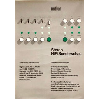 Braun Exhibition Poster