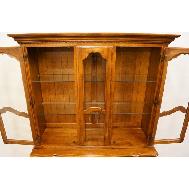 Ethan Allen 20th Century Traditional Ethan Allen Country French Collection Buffet With Lighted China Cabinet For Sale - Image 4 of 12