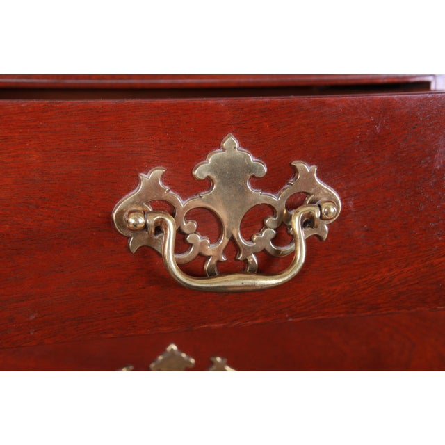 Baker Furniture Mahogany Chippendale Style Highboy Dresser For Sale In South Bend - Image 6 of 13
