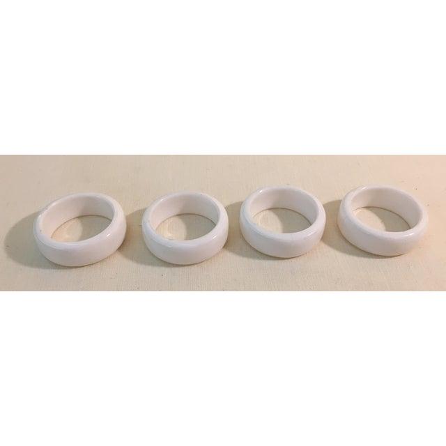 Mid-Century Modern Acrylic Napkin Rings - Set of 4 - Image 3 of 7