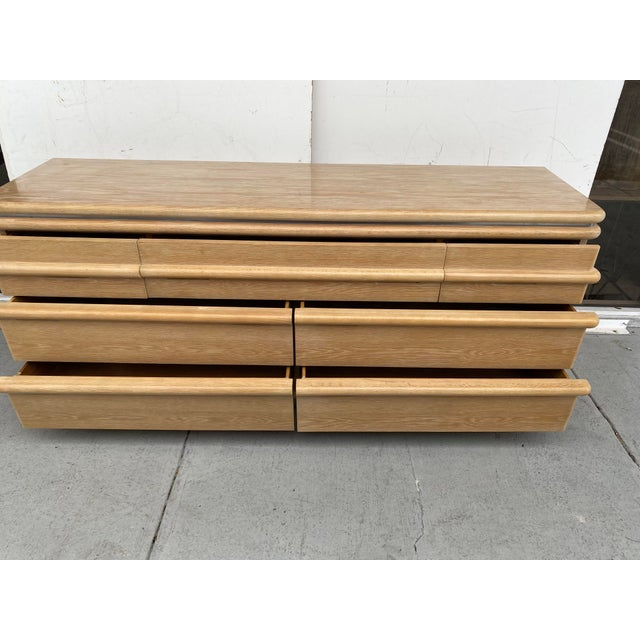 Jay Spectre Chest of Drawers in Cerused Oak For Sale - Image 11 of 12