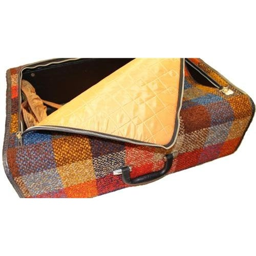 Vintage Bright Chenille Skyway Suitcase - Image 6 of 10