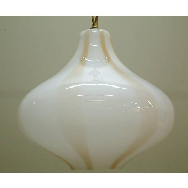 Mid-Century Modern Vistosi Large Italian Pendant Fixture For Sale - Image 3 of 8