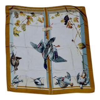 Henri De Linares for Hermes Silk Scarf a La Fenetre Du Chasseur For Sale
