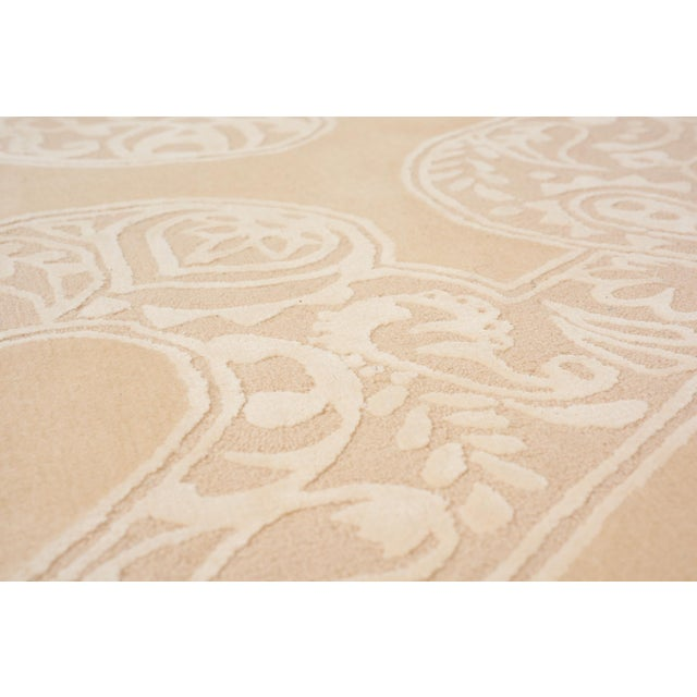 Contemporary Schumacher Chantilly Lace Area Rug in Hand-Tufted Wool & Spun Silk, Patterson Flynn Martin For Sale - Image 3 of 6