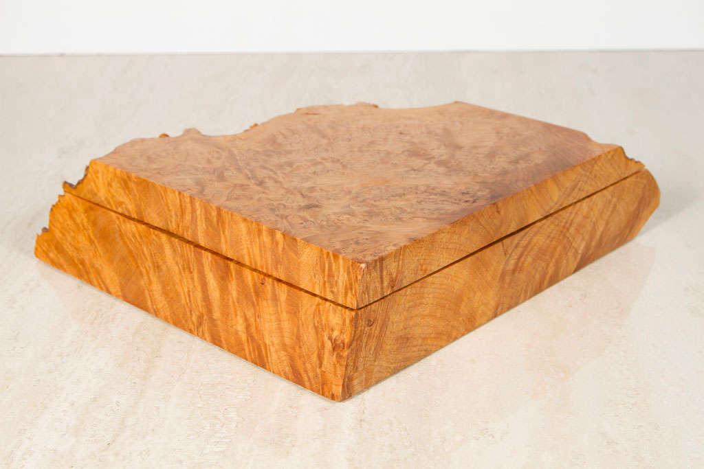 Exquisite Michael Elkan Large Oregon Birdseye Maple Burl Jewelry Box