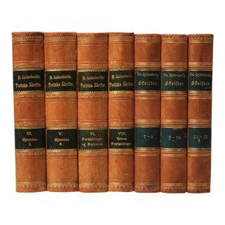 19th Century Leather-Bound Books - Set of 7