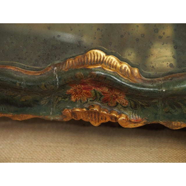 Giltwood PETIT VENETIAN LACCA POVERA MIRROR For Sale - Image 7 of 8