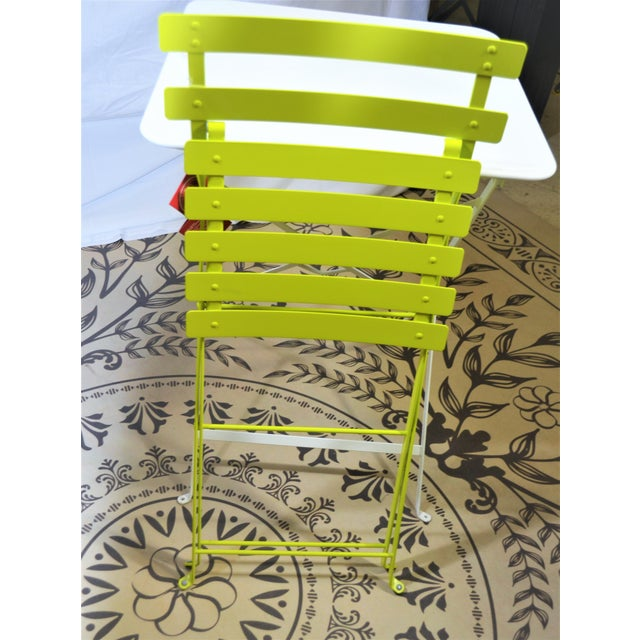 2010s Fermob Bright Yellow Bistro Chair For Sale - Image 5 of 9