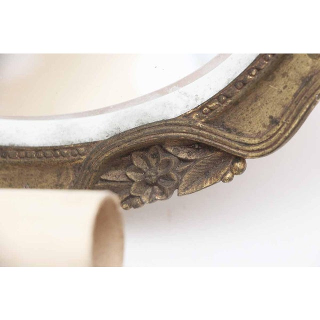 Double Arm Brass Mirrored Sconce For Sale - Image 4 of 10