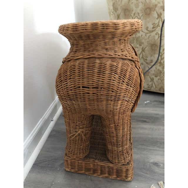 1960s 1960s Wicker Elephant Side Table For Sale - Image 5 of 6
