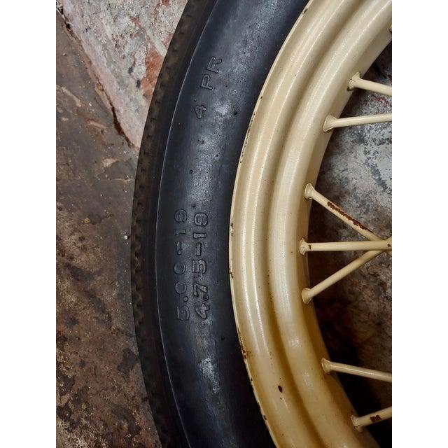 Ford Model a Original 1920/30s Wire Spoke Wheel W/Insa Tire For Sale In Los Angeles - Image 6 of 10