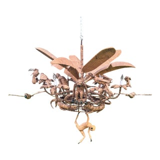 1970s Vintage Mario Lopez Torres Jungle Chandelier For Sale