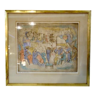 Framed Drawing of an Orchestra For Sale