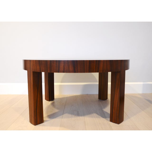 Art Deco Jean Michel Frank Style Circular Wood Coffee Table - Image 3 of 9