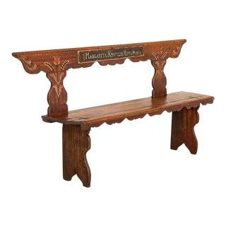 Antique Original Painted Bench For Sale