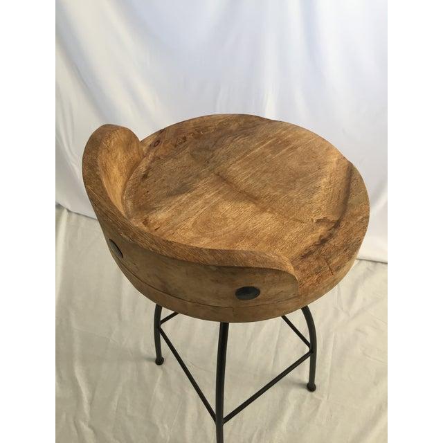 Wood and Iron Bar Stools - Set of 4 - Image 2 of 3