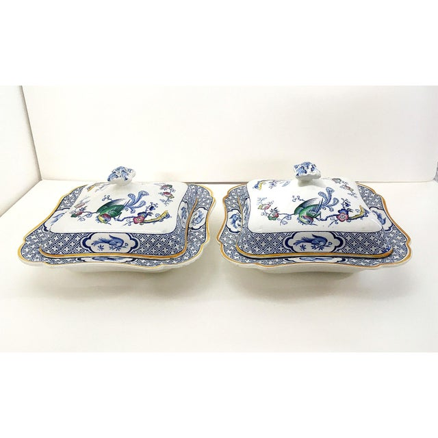 A rare set of two covered tureens by Lawleys Norfolk Pottery Stoke, circa 1890.