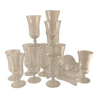 Vintage Stemware Champagne Glasses - Set of 13