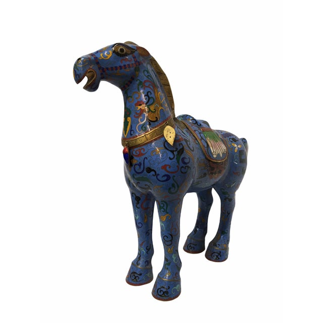 Vintage Chinese Cloisonné Horse Statue For Sale - Image 13 of 13