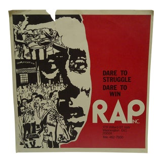"Vintage Poster Regional Addiction Prevention ""Dare to Struggle - Dare to Win"", 1970 For Sale"