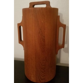 1960s Dansk Ihq Jens Quistgaard Mid-Century Danish Modern Teak Ice Bucket Preview