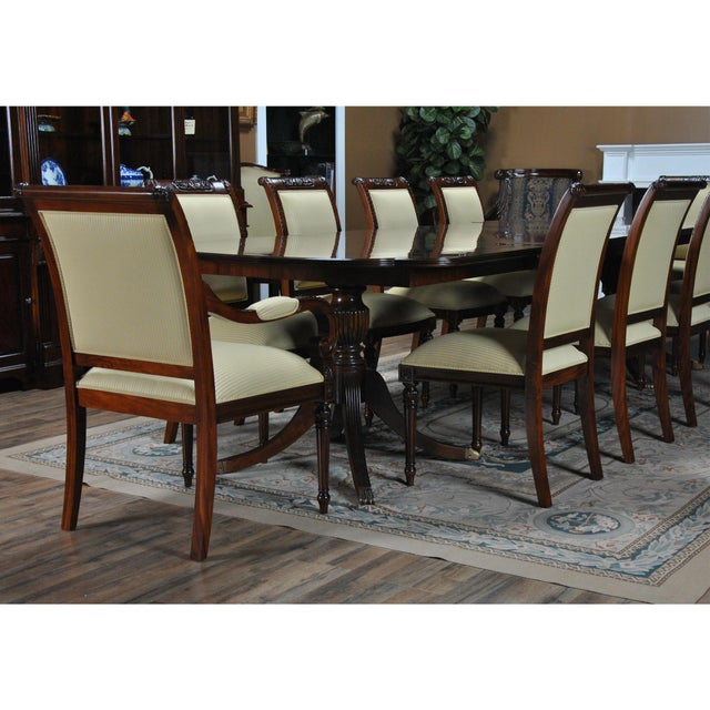 2010s Niagara Furniture Carved Empire Upholstered Side Chair For Sale - Image 5 of 13