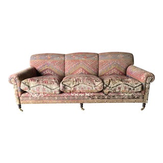 George Smith Roll Arm Kilim Sofa For Sale