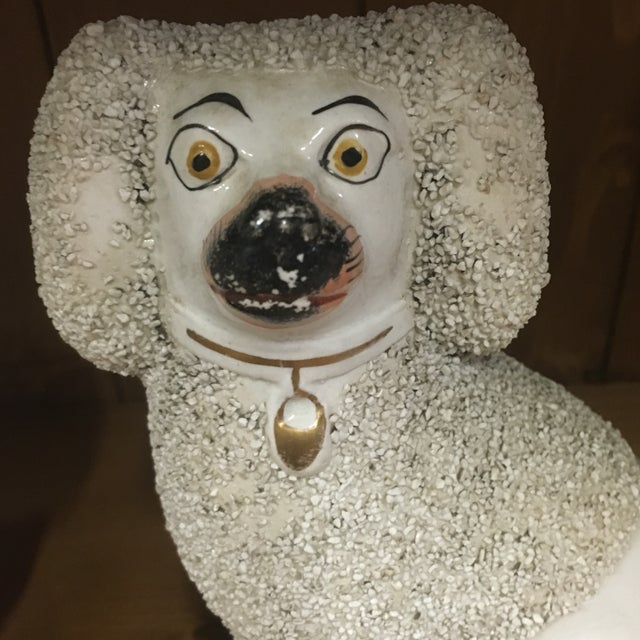 English Traditional Antique Staffordshire Poodles - A Pair For Sale - Image 3 of 9