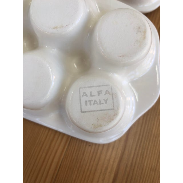 Early 21st Century Italian Ceramic Egg Cartons - Set of 4 For Sale - Image 5 of 12