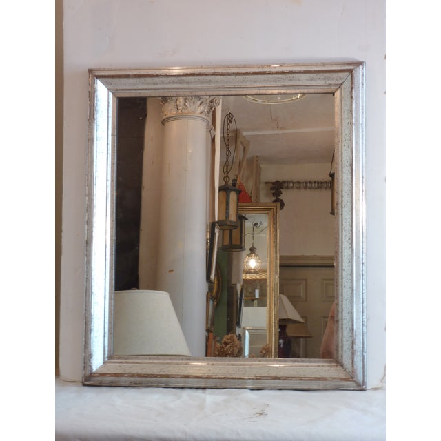 Antique Silver Leaf Wall Mirror For Sale In Boston - Image 6 of 6
