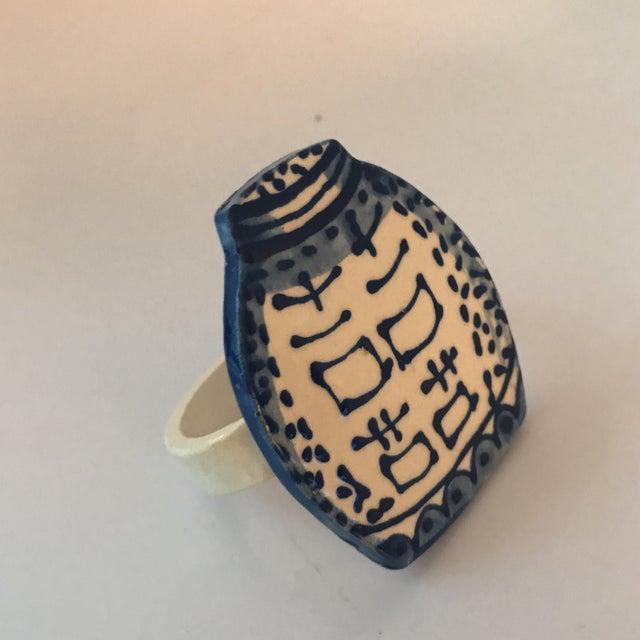 Ceramic Ginger Jar Napkin Rings - Set of 4 - Image 4 of 5