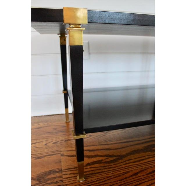 Gold Andre Arbus 'Avenue' Ebonized Walnut Cocktail Table For Sale - Image 8 of 11