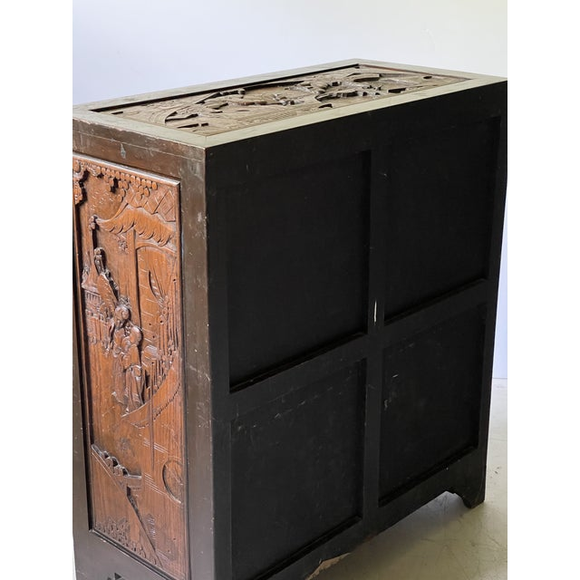 Chinoiserie Carved Camphor Wood Batchelor's Chest For Sale - Image 12 of 13