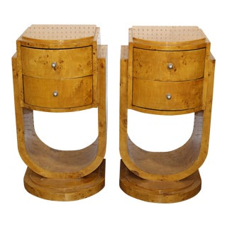 Mid-Century Art Deco End Tables - A Pair