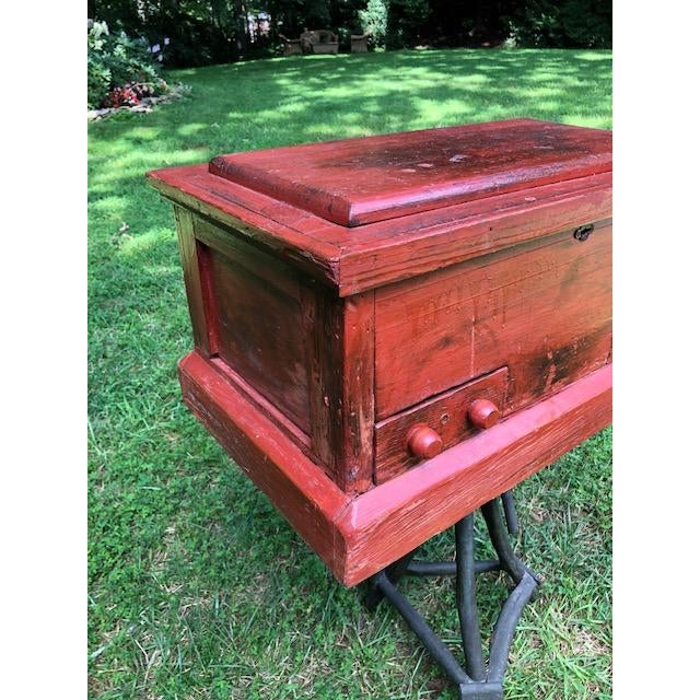Mid 19th Century 19th Century Primitive Carpenters Painted Chest/Box For Sale - Image 5 of 10