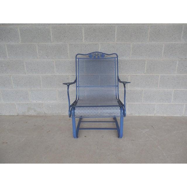 Vintage Woodard Briarwood High Back Spring Base Chair Model #1A052904 - Image 5 of 8