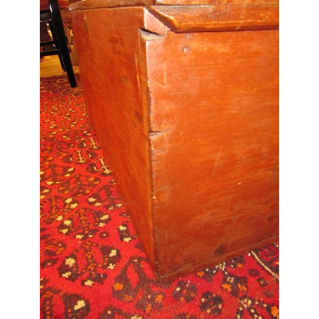 Primitive Handsome 19th Century American Painted Trunk With Lovely Worn Painted Finish For Sale - Image 3 of 6