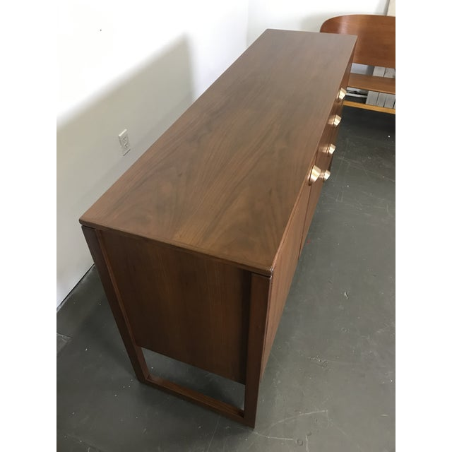 Nicely Designed Walnut Sideboard Cabinet by Jens Risom; 1960's. For Sale - Image 9 of 13