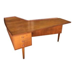 Danish Modern Arne Vodder Boomerang Desk For Sale