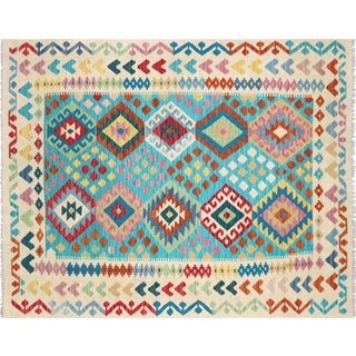 "Nalbandian - Contemporary Afghan Maimana Kilim - 5'1"" X 6'4"" For Sale"