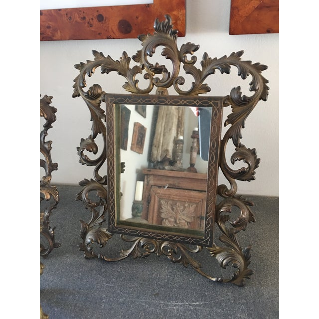 Brass Vintage Roccoco Victorian Brass Frames - Set of 4 For Sale - Image 7 of 8