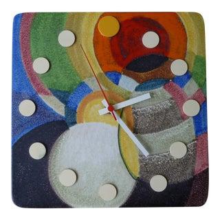 Italian Howard Miller Meridian Ceramic Wall Clock For Sale