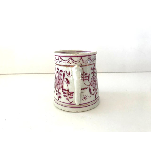 Early 18th Century Early 18th-Century Meissen Purple Indian Coffee Can For Sale - Image 5 of 10