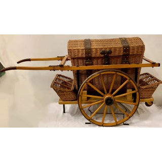 Vintage Wicker Picnic Basket and Cart Preview