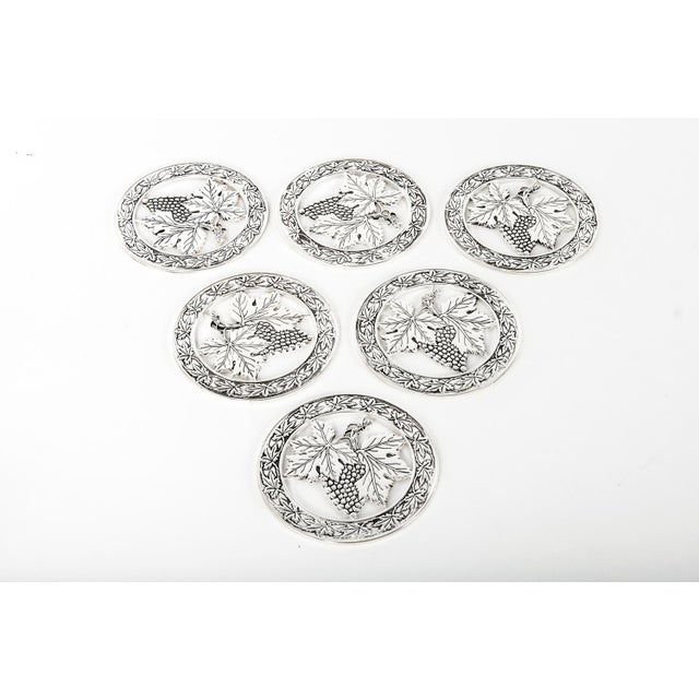 Mid-Century Modern Mid Century English Coasters - Set of 6 For Sale - Image 3 of 5