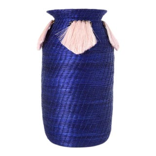 Mini Fanned Out Vase Tall Cobalt For Sale