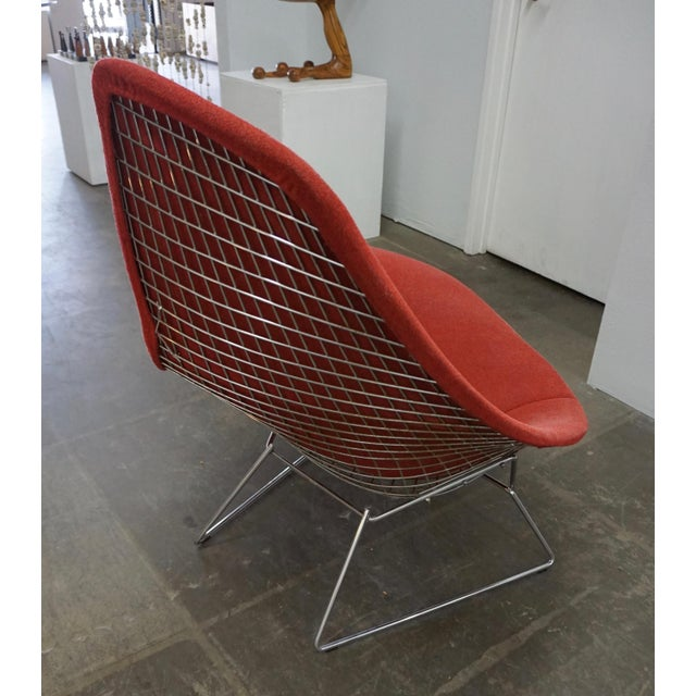 Knoll Bertoia Assymetric Red Upholstered Lounge Chair for Knoll For Sale - Image 4 of 8