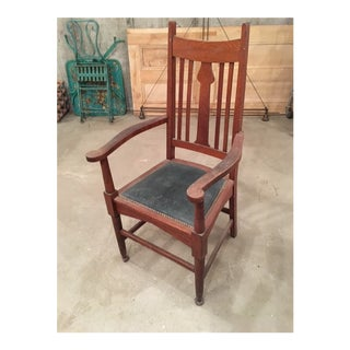 1910s Vintage English Arts and Crafts Chair For Sale